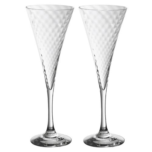 Orrefors Helena Champagne Flute Pair