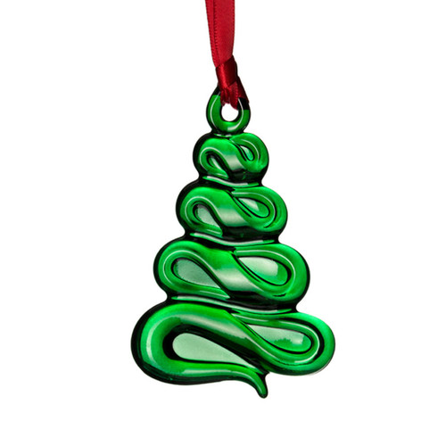 Orrefors Ornaments Christmas Tree Ornament Green
