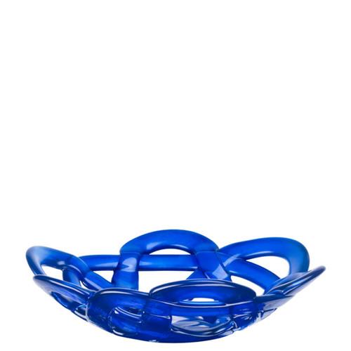 Kosta Boda Basket Bowl Blue Small