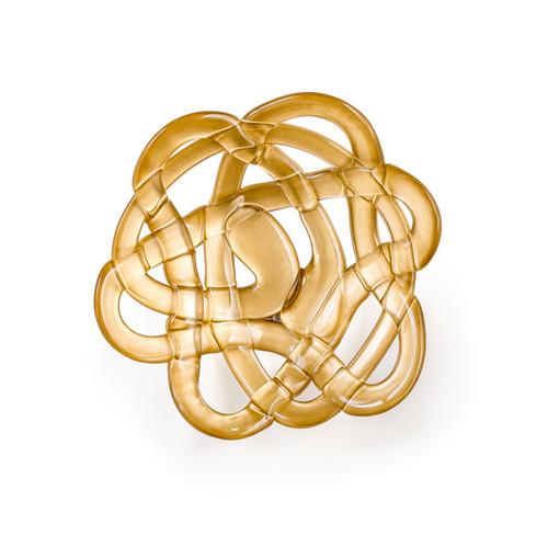 Kosta Boda Basket Bowl Gold Small