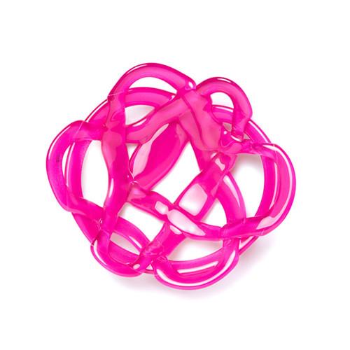 Kosta Boda Basket Bowl Pink Small