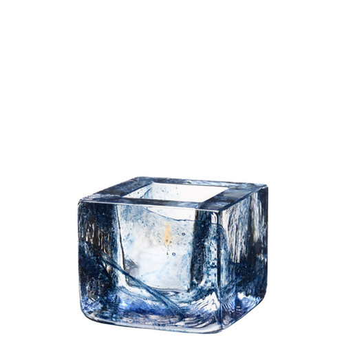 Kosta Boda Brick Votive Blue