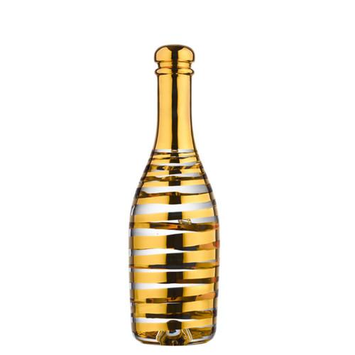 Kosta Boda Celebrate Champagne Bottle Gold