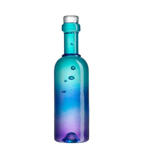 Kosta Boda Celebrate Wine Bottle Blue