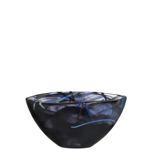 Kosta Boda Contrast Bowl Black Small