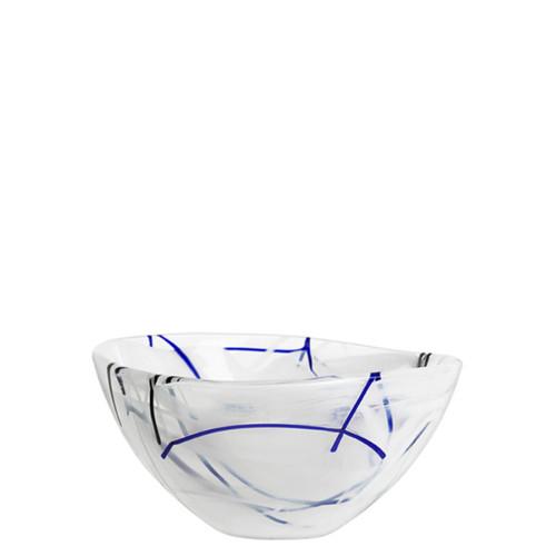 Kosta Boda Contrast Bowl White Small