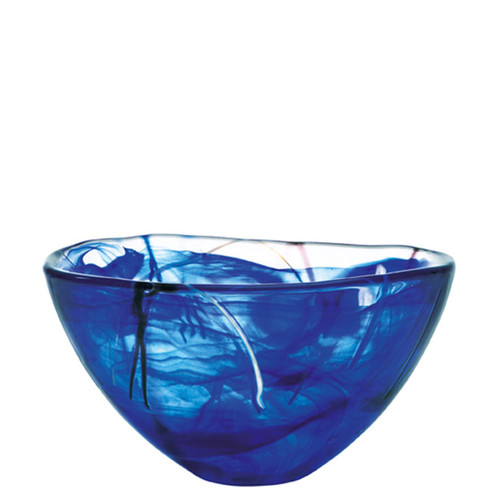 Kosta Boda Contrast Bowl Blue Medium