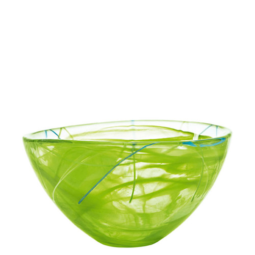 Kosta Boda Contrast Bowl Lime Medium