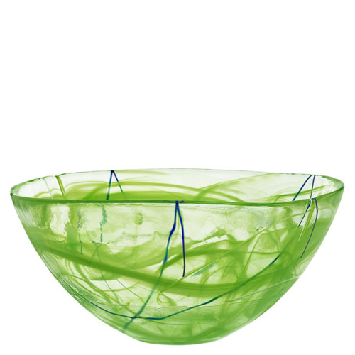Kosta Boda Contrast Bowl Lime Large