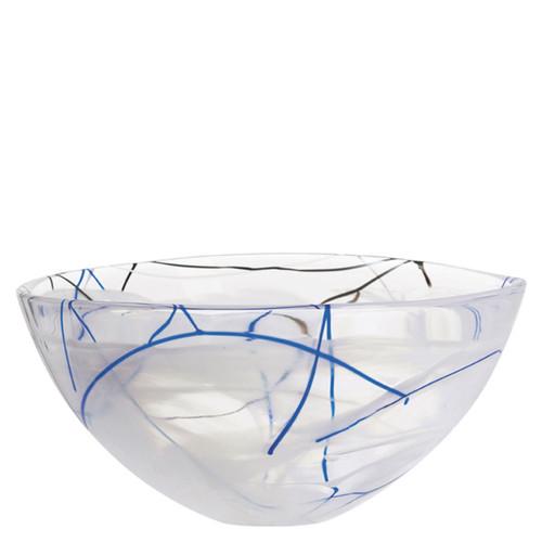 Kosta Boda Contrast Bowl White Large