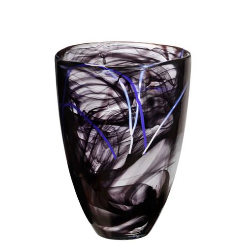 Kosta Boda Contrast Vase Black