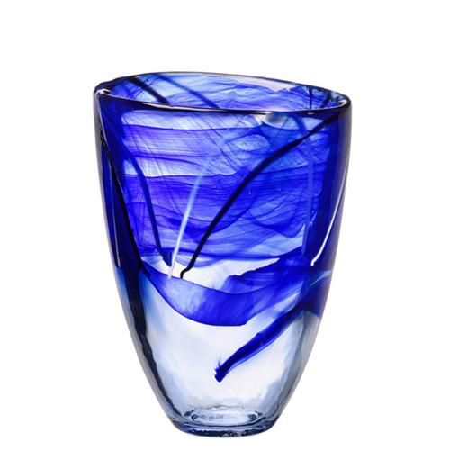 Kosta Boda Contrast Vase Blue