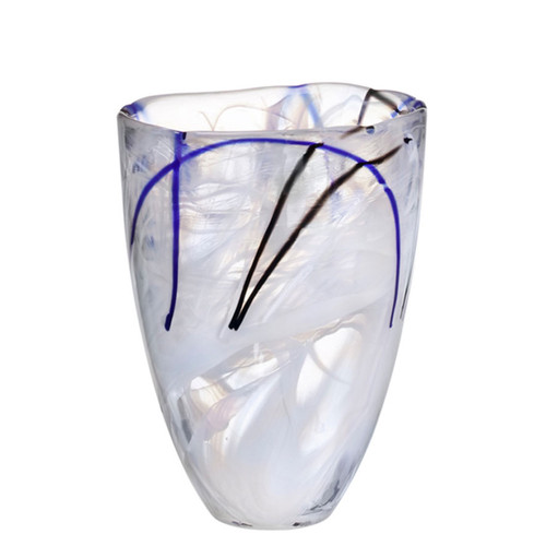 Kosta Boda Contrast Vase White