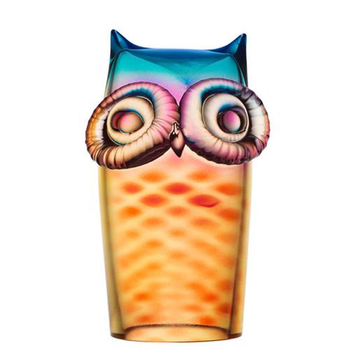 Kosta Boda My Wide Life Owl Yellow/Red MPN: 7091221 Designed by Ludvig Lofgren
