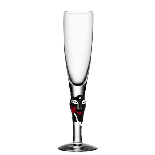 Kosta Boda Open Minds Champagne Flute Black MPN: 7091340 Designed by Ulrica Hydman-Vallien