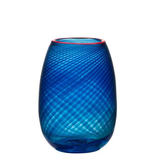 Kosta Boda Red Rim Vase Small