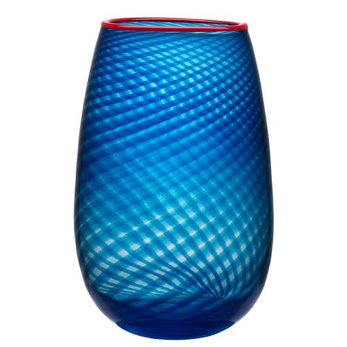 Kosta Boda Red Rim Vase Large