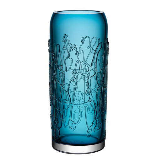 Kosta Boda Twine Vase Blue Large