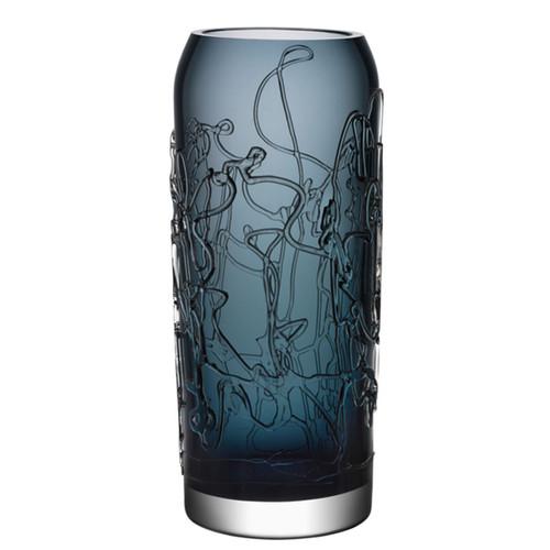 Kosta Boda Twine Vase Grey Large