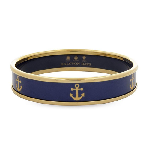 Halcyon Days Gold Anchor Bangle Small