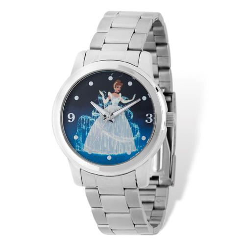Ladies Disney Silver-tone Cinderella Blue Dial Watch  XWA5104