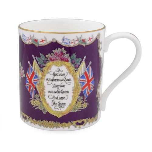 Halcyon Days Vivat Regina Royal Purple Mug