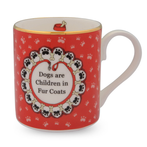 Halcyon Days Dogs are Children in Fur Coats Mug BCDAC06MGG