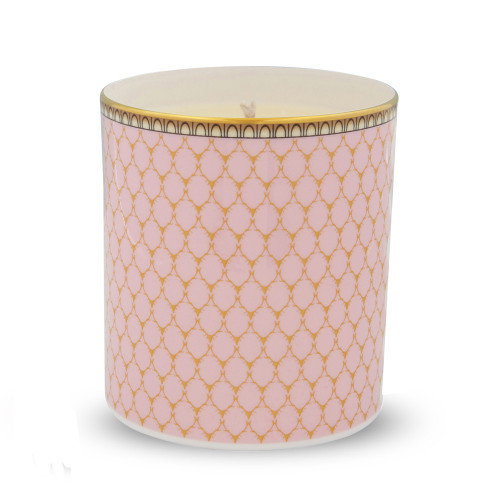 Halcyon Days Antler Trellis Pink Filled Candle