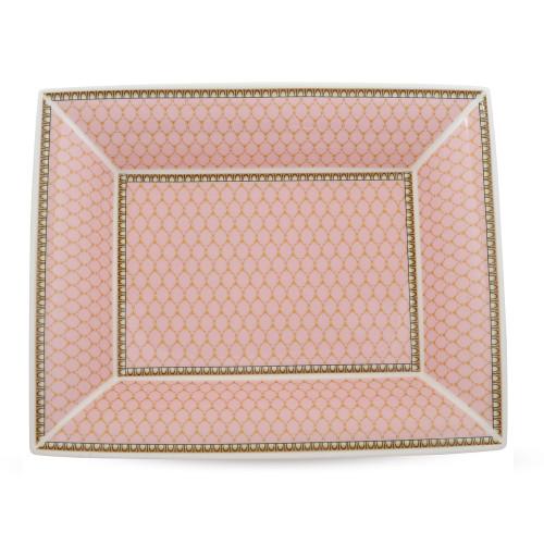 Halcyon Days Antler Trellis Tray Pink Trinket Tray BCGAT26TTN