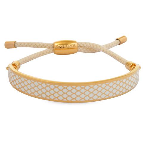 Halcyon Days Salamander Cream Gold 1cm Friendship Bangle