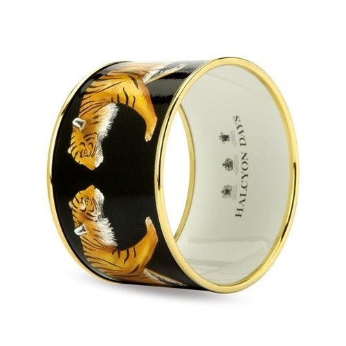 Halcyon Days Magnificent Wildlife Tiger 4 Cm. Med Ban Push on Bangle PBMWT0240GM