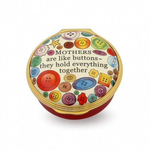 Halcyon Days Mothers Are Like Buttons Enamel Box
