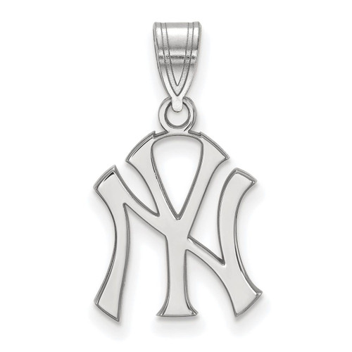 New York Yankees Medium Pendant 10k White Gold 1W003YAN