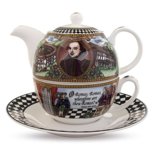 Halcyon Days Shakespeare Tea Set For One