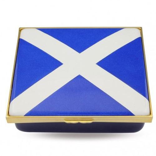 Halcyon Days The Saltire  Enamel Box
