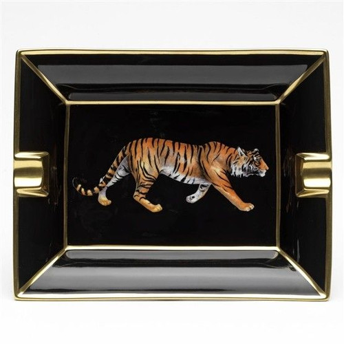 Halcyon Days Tiger Ashtray
