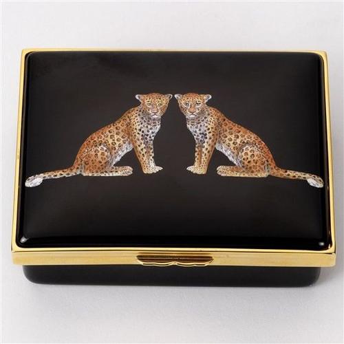Halcyon Days Twin Leopards Box