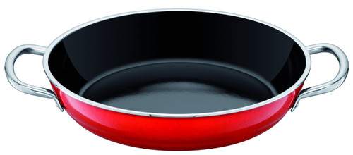Silit Passion Colors Fry Serve Pan 11 Inch with Stainless Handles Energy Red