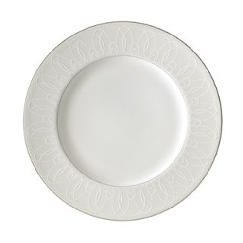 Waterford Ballet Icing Pearl Dinner Plate 10.75 Inch