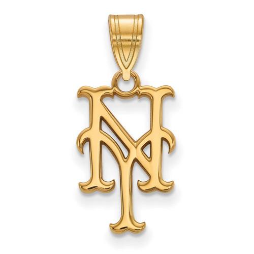 New York Mets Medium Pendant 10k Yellow Gold 1Y003MET