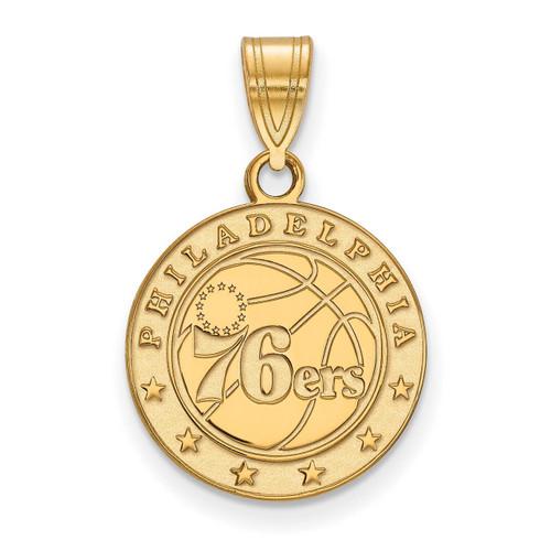Philadelphia 76ers Medium Pendant 10k Yellow Gold 1Y003SEV
