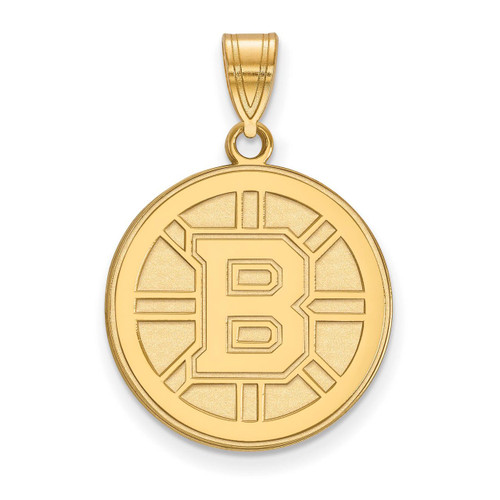 Boston Bruins Large Pendant 10k Yellow Gold 1Y004BRI