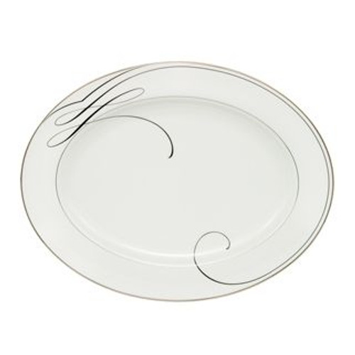 Waterford Ballet Ribbon Oval Platter 15.25 Inch