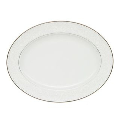 Waterford Barons Court Oval Platter 15.25 Inch