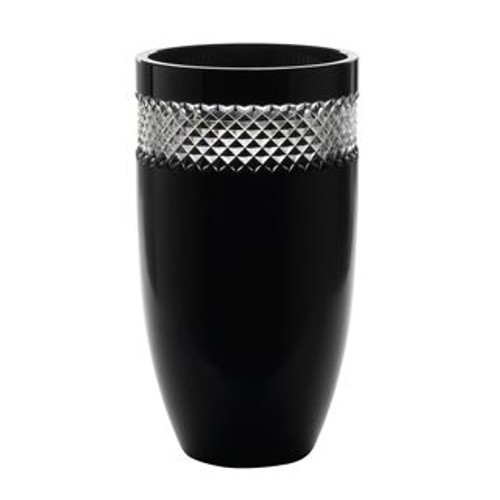 Waterford Black Cut 12 Inch Vase By John Rocha