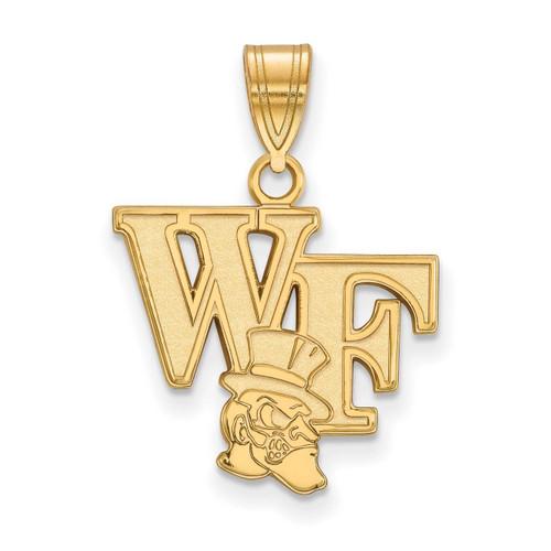 Wake Forest University Medium Pendant 10k Yellow Gold 1Y043WFU