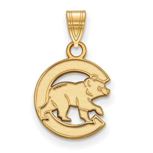 Chicago Cubs Small Pendant 14k Yellow Gold 4Y019CUB