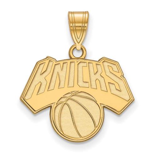 New York Knicks Medium Pendant Gold-plated Silver GP003KNI
