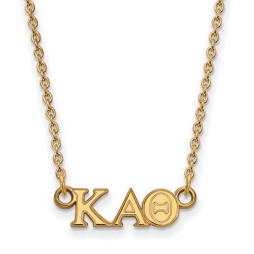 Kappa Alpha Theta Extra Small Pendant with 18 Inch Chain Gold-plated Silver GP006KAT-18