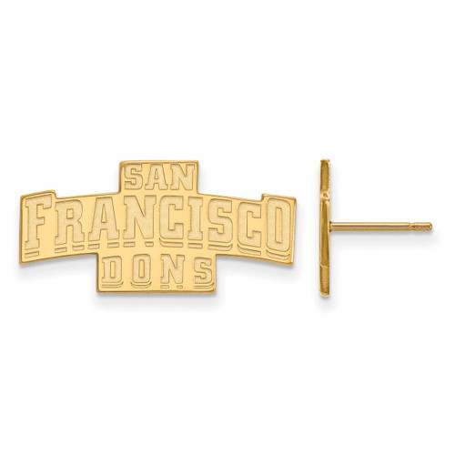 San francisco state university small enamel disc earring for Sf contact nackenkissen small